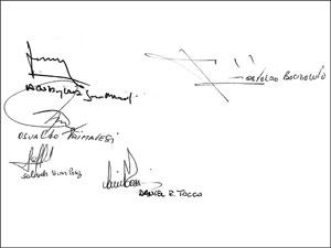 Estas serían las firmas en el nuevo CCT: Osvaldo Primavesi, Juan Manuel Acosta y Lara, Salvador Víctor Perez, Osvaldo Bacigalupo y Daniel Tocco.